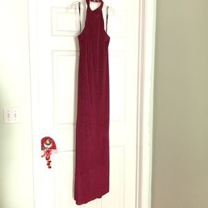 Forever 21 Long knit dress color wine size Large